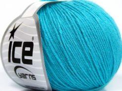 Lot of 8 Skeins Ice Yarns BABY MERINO SOFT (40% Merino Wool) Yarn Turquoise