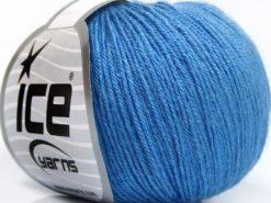 Lot of 8 Skeins Ice Yarns BABY MERINO SOFT (40% Merino Wool) Yarn Light Blue