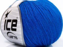 Lot of 8 Skeins Ice Yarns BABY MERINO SOFT (40% Merino Wool) Yarn Blue