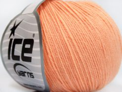 Lot of 8 Skeins Ice Yarns BABY MERINO SOFT (40% Merino Wool) Yarn Light Salmon