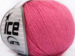 Lot of 8 Skeins Ice Yarns BABY MERINO SOFT (40% Merino Wool) Yarn Candy Pink