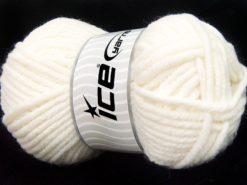 Lot of 4 x 100gr Skeins Ice Yarns ELITE WOOL SUPERBULKY (50% Wool) Yarn White