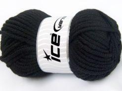 Lot of 4 x 100gr Skeins Ice Yarns ELITE WOOL SUPERBULKY (50% Wool) Yarn Black