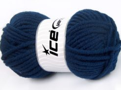 Lot of 4 x 100gr Skeins Ice Yarns ELITE WOOL SUPERBULKY (50% Wool) Yarn Dark Blue