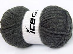 Lot of 4 x 100gr Skeins Ice Yarns ELITE WOOL SUPERBULKY (50% Wool) Yarn Dark Grey