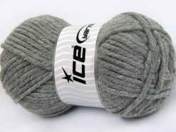 Lot of 4 x 100gr Skeins Ice Yarns ELITE WOOL SUPERBULKY (50% Wool) Yarn Grey