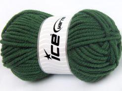 Lot of 4 x 100gr Skeins Ice Yarns ELITE WOOL SUPERBULKY (50% Wool) Yarn Dark Green