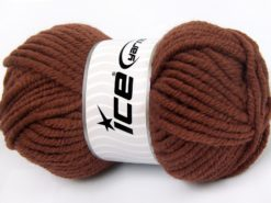 Lot of 4 x 100gr Skeins Ice Yarns ELITE WOOL SUPERBULKY (50% Wool) Yarn Brown
