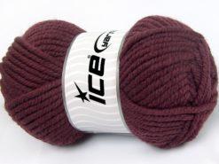 Lot of 4 x 100gr Skeins Ice Yarns ELITE WOOL SUPERBULKY (50% Wool) Yarn Rose Brown