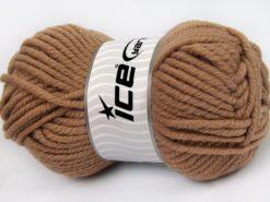Lot of 4 x 100gr Skeins Ice Yarns ELITE WOOL SUPERBULKY (50% Wool) Yarn Camel