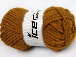 Lot of 4 x 100gr Skeins Ice Yarns ELITE WOOL SUPERBULKY (50% Wool) Yarn Dark Gold