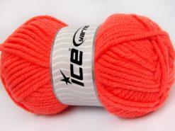 Lot of 4 x 100gr Skeins Ice Yarns ELITE WOOL SUPERBULKY (50% Wool) Yarn Dark Salmon
