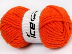 Lot of 4 x 100gr Skeins Ice Yarns ELITE WOOL SUPERBULKY (50% Wool) Yarn Orange
