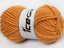 Lot of 4 x 100gr Skeins Ice Yarns ELITE WOOL SUPERBULKY (50% Wool) Yarn Light Gold