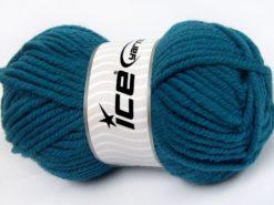 Lot of 4 x 100gr Skeins Ice Yarns ELITE WOOL SUPERBULKY (50% Wool) Yarn Dark Turquoise