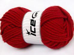 Lot of 4 x 100gr Skeins Ice Yarns ELITE WOOL SUPERBULKY (50% Wool) Yarn Red