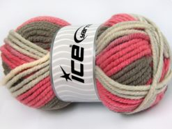 Lot of 4 x 100gr Skeins Ice Yarns ELITE WOOL SUPERBULKY (50% Wool) Yarn Salmon Shades Beige Camel