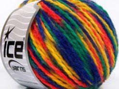 Lot of 8 Skeins Ice Yarns WOOL WORSTED COLOR (50% Wool) Yarn Blue Green Orange Yellow