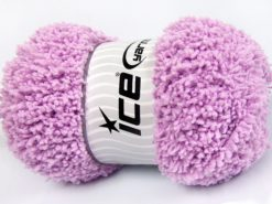 Lot of 4 x 100gr Skeins Ice Yarns BABY PUFFY Hand Knitting Yarn Light Lilac