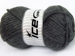 Lot of 2 x 200gr Skeins Ice Yarns SUPERWASH WOOL JUMBO (25% Superwash Wool) Yarn Dark Grey