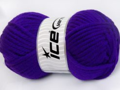 Lot of 2 x 200gr Skeins Ice Yarns SUPERWASH WOOL JUMBO (25% Superwash Wool) Yarn Purple
