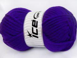 Lot of 2 x 200gr Skeins Ice Yarns SUPERWASH WOOL JUMBO (25% Superwash Wool) Yarn Purple