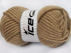 Lot of 2 x 200gr Skeins Ice Yarns SUPERWASH WOOL JUMBO (25% Superwash Wool) Yarn Light Camel
