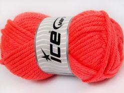 Lot of 2 x 200gr Skeins Ice Yarns SUPERWASH WOOL JUMBO (25% Superwash Wool) Yarn Neon Orange