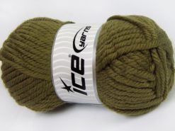 Lot of 2 x 200gr Skeins Ice Yarns SUPERWASH WOOL JUMBO (25% Superwash Wool) Yarn Khaki