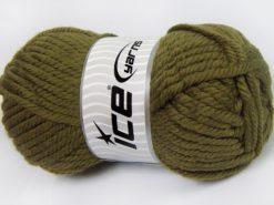 Lot of 2 x 200gr Skeins Ice Yarns SUPERWASH WOOL JUMBO (25% Superwash Wool) Yarn Khaki