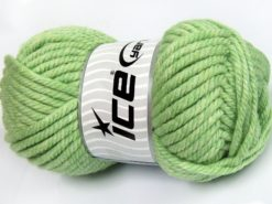 Lot of 2 x 200gr Skeins Ice Yarns SUPERWASH WOOL JUMBO (25% Superwash Wool) Yarn Light Green