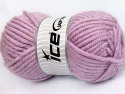 Lot of 2 x 200gr Skeins Ice Yarns SUPERWASH WOOL JUMBO (25% Superwash Wool) Yarn Light Lilac