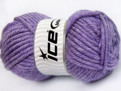 Lot of 2 x 200gr Skeins Ice Yarns SUPERWASH WOOL JUMBO (25% Superwash Wool) Yarn Lilac