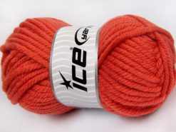 Lot of 2 x 200gr Skeins Ice Yarns SUPERWASH WOOL JUMBO (25% Superwash Wool) Yarn Orange