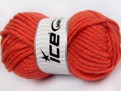 Lot of 2 x 200gr Skeins Ice Yarns SUPERWASH WOOL JUMBO (25% Superwash Wool) Yarn Orange