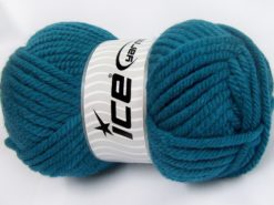 Lot of 2 x 200gr Skeins Ice Yarns SUPERWASH WOOL JUMBO (25% Superwash Wool) Yarn Dark Turquoise
