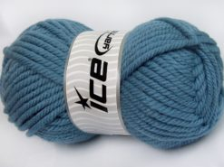 Lot of 2 x 200gr Skeins Ice Yarns SUPERWASH WOOL JUMBO (25% Superwash Wool) Yarn Light Jeans Blue