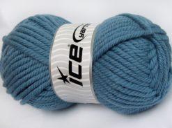 Lot of 2 x 200gr Skeins Ice Yarns SUPERWASH WOOL JUMBO (25% Superwash Wool) Yarn Light Jeans Blue