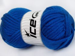 Lot of 2 x 200gr Skeins Ice Yarns SUPERWASH WOOL JUMBO (25% Superwash Wool) Yarn Blue