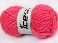 Lot of 2 x 200gr Skeins Ice Yarns SUPERWASH WOOL JUMBO (25% Superwash Wool) Yarn Candy Pink