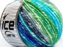 Lot of 8 Skeins Ice Yarns COTTON PASTEL (77% Cotton) Yarn Turquoise Navy Green Cream