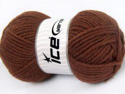 Lot of 4 x 100gr Skeins Ice Yarns WOOL CHUNKY (30% Wool) Yarn Brown