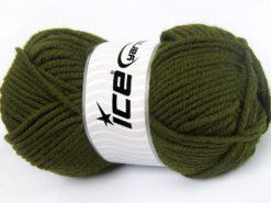 Lot of 4 x 100gr Skeins Ice Yarns WOOL CHUNKY (30% Wool) Yarn Khaki