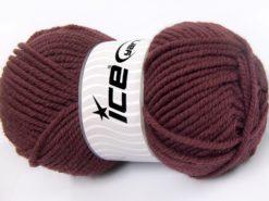 Lot of 4 x 100gr Skeins Ice Yarns WOOL CHUNKY (30% Wool) Yarn Rose Brown