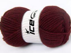 Lot of 4 x 100gr Skeins Ice Yarns WOOL CHUNKY (30% Wool) Yarn Burgundy