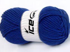 Lot of 4 x 100gr Skeins Ice Yarns WOOL CHUNKY (30% Wool) Yarn Blue