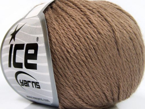 Lot of 8 Skeins Ice Yarns BABY MERINO SOFT DK (40% Merino Wool) Yarn Camel