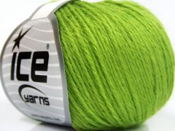 Lot of 8 Skeins Ice Yarns BABY MERINO SOFT DK (40% Merino Wool) Yarn Light Green
