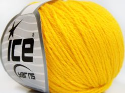 Lot of 8 Skeins Ice Yarns BABY MERINO SOFT DK (40% Merino Wool) Yarn Yellow