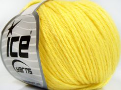 Lot of 8 Skeins Ice Yarns BABY MERINO SOFT DK (40% Merino Wool) Yarn Light Yellow